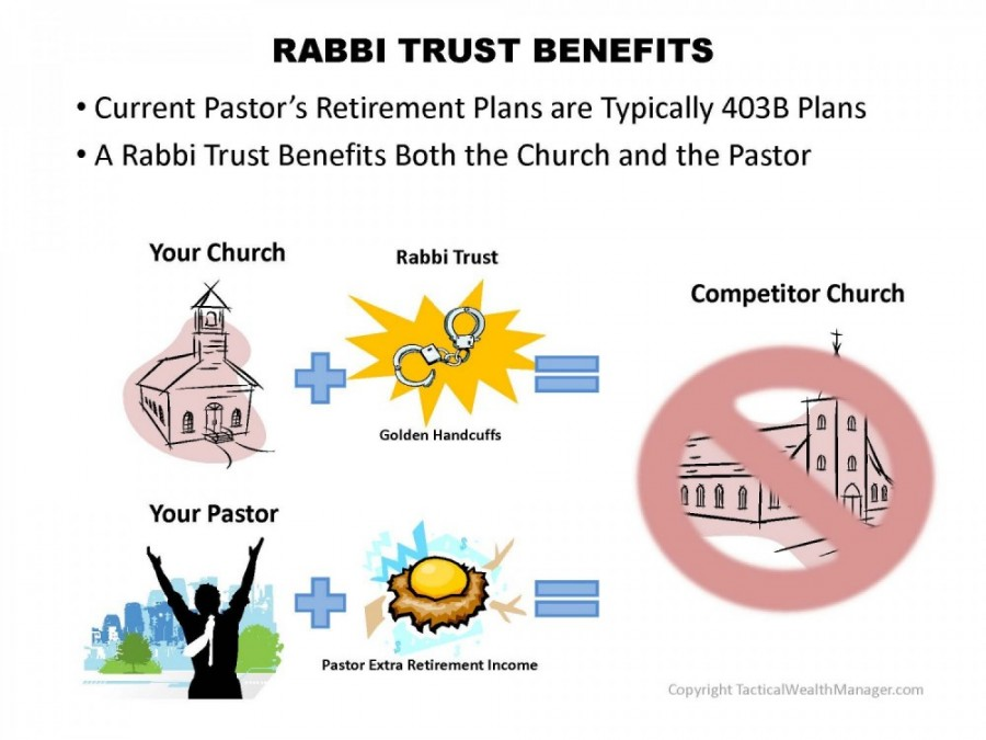 Determine the advantages of using Rabbi Trusts for your church and your pastor.